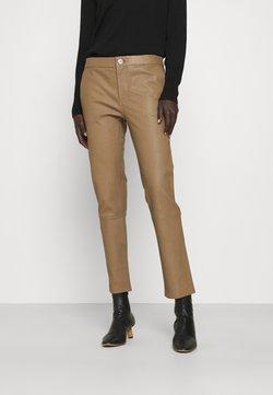 2nd Day - LEYA - Pantalon en cuir - sepia tint