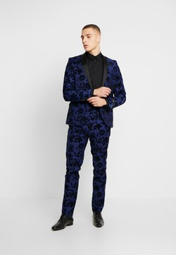 Twisted Tailor - FRAN FLORAL FLOCK SUIT - Anzug - bright blue
