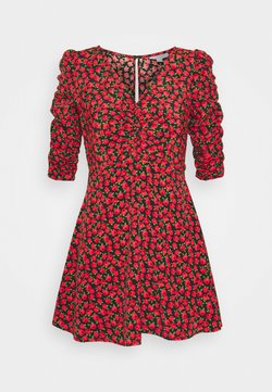 Topshop Petite - ROSE RUCHED FRONT - Robe d'été - red