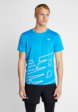 New Balance - PRINTED ACCELERATE - Camiseta estampada - vision blue