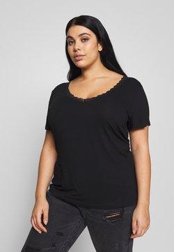 Anna Field Curvy - BASIC T-SHIRT - T-shirts med print - black