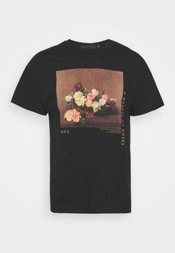 Mennace - ROSEBOWL BASKET OF ROSES - T-shirts print - washed black