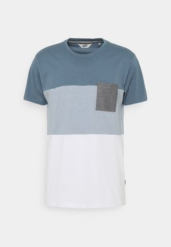Solid - RIGGIN - T-shirt con stampa - china blue