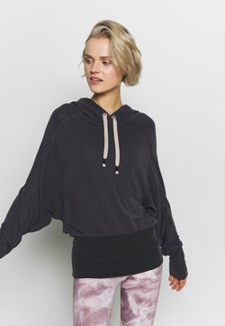 Free People - READY GO HOODIE - Jersey con capucha - black