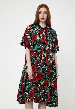 Madam-T - Blusenkleid - schwarz, rot
