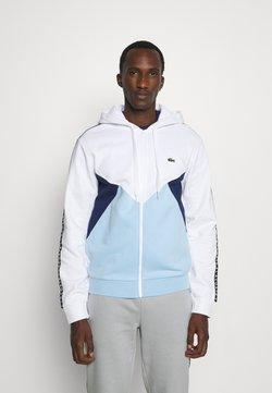 Lacoste Sport - Sweatjacke - blanc/bleu