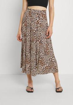 Forever New - SOPHIE DOUBLE SPLIT SKIRT - Jupe trapèze - caramel leopard