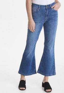 PULZ - PZLIVA - Bootcut jeans -  blue