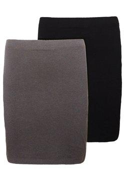 Even&Odd - 2 PACK - Minigonna - grey/black