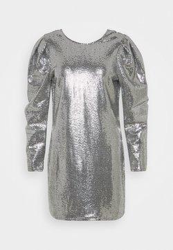 Gina Tricot - AUGUSTA SEQUINS DRESS - Vestito elegante - silver