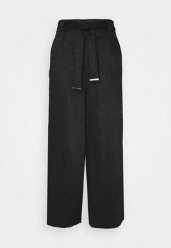 Vila - VICALANTHA WIDE PANTS - Pantalon classique - black