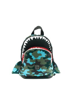 pick & PACK - SHARK - Reppu - camo hellblau