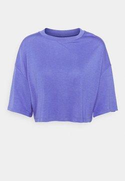 Zign - T-SHIRT-SILK BLEND - T-shirts basic - blue