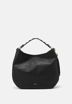 DKNY - WINNIE HOBO PEBBLE - Handtasche - black/gold