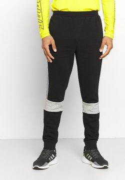 adidas Performance - COLORBLOCK ESSENTIALS - Jogginghose - black/medium grey heather