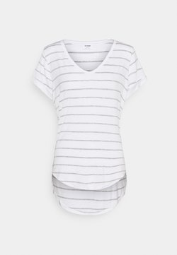 Cotton On - KARLY - T-Shirt basic - zoe stripe white/grey marle