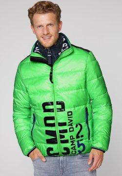 Camp David - MIT LOGO PRINT - Winterjacke - neon green