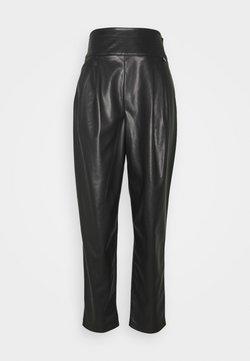 TWINSET - Pantalon en cuir - nero