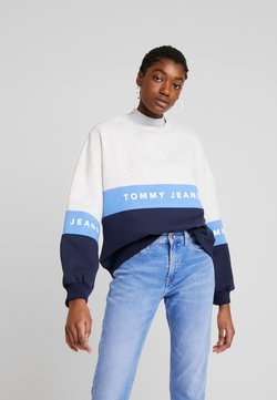 Tommy Jeans - COLORBLOCK CREW - Sudadera - pale grey/multi