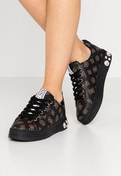 Guess - RIVET - Sneaker low - brown/ocra