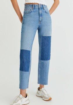 PULL&BEAR - MIT PATCHWORK - Straight leg -farkut - blue