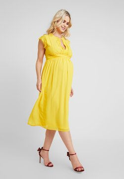 TFNC Maternity - EXCLUSIVE FINLEY MIDI DRESS - Cocktailkleid/festliches Kleid - spectra yellow