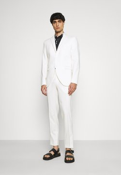 Selected Homme - SLHSLIM MYLOLOGAN OFF SUIT SET - Completo - egret
