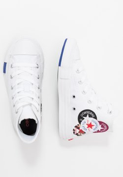 Converse - CHUCK TAYLOR ALL STAR LOGO PLAY - Baskets montantes - white/rush blue/rose maroon