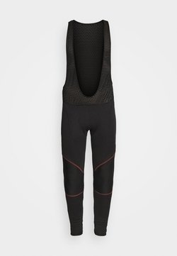 LÖFFLER - BIKE CRUISER WARM - Tights - black/ fiesta