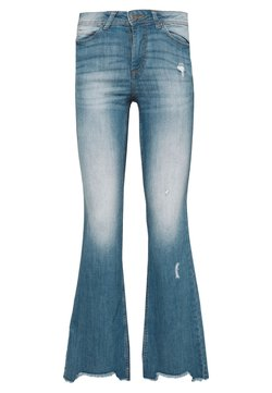 JDY - FLORA - Flared Jeans - medium blue denim