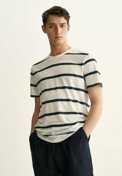 Massimo Dutti - T-Shirt print - light blue