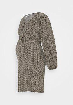 MAMALICIOUS - MLAVA DRESS - Vestido ligero - snow white/black