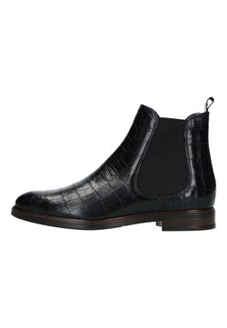 Manfield - MIT KROKOMUSTER - Boots à talons - schwarz