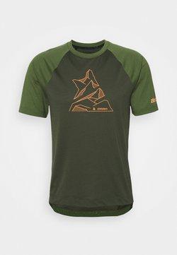 Zimtstern - PUREFLOWZ MENS - T-Shirt print - forest night/bronze green