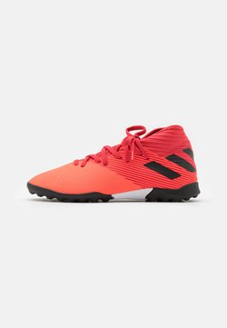 adidas Performance - NEMEZIZ 19.3 FOOTBALL BOOTS TURF UNISEX - Fußballschuh Multinocken - signal coral/core black/glory red