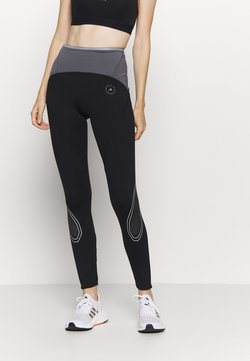 adidas by Stella McCartney - TRUEPACE - Tights - black/granite