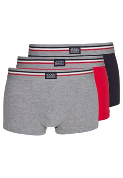 Jockey - COTTON STRETCH TRUNK 3 PACK - Shorty - stone grey melange
