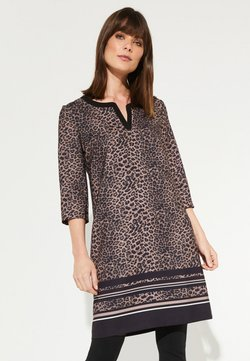 comma - MIT LEOPARDEN-ALLOVERMUSTER - Freizeitkleid - black