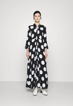 YAS - YASSAVANNA DOT LONG SHIRT DRESS - Vestido largo - black/white