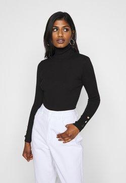Missguided Petite - ROLL NECK BODY - Jersey de punto - black