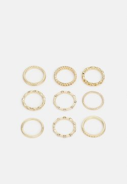 Pieces - PCWALLY MULTI CURVE 9 PACK - Ring - gold-coloured
