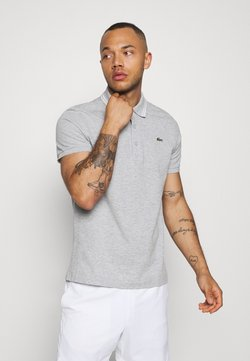 Lacoste Sport - DETAILED COLLAR - Poloshirt - silver chine/white