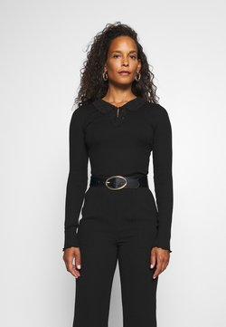 Rosemunde - REGULAR COLLAR - Langærmede T-shirts - black