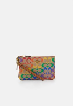 Coach - RAINBOW COATED SIGNATURE SMALL WRISTLET - Pikkulaukku - tan/multi-coloured