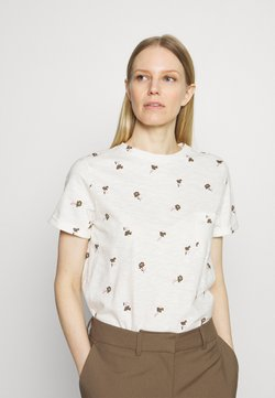 Marks & Spencer London - AUTH POCK TEE - T-Shirt print - off-white