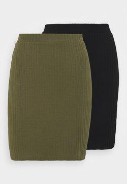 Even&Odd - 2 PACK - Minigonna - black/khaki