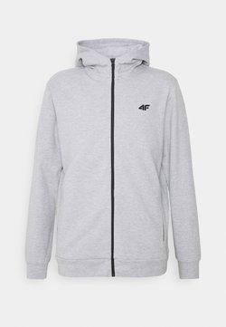 4F - HERREN STEN - Zip-up hoodie - grey