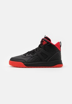 Puma - BACKCOURT MID UNISEX - Korkeavartiset tennarit - black/high risk red/dark shadow/silver