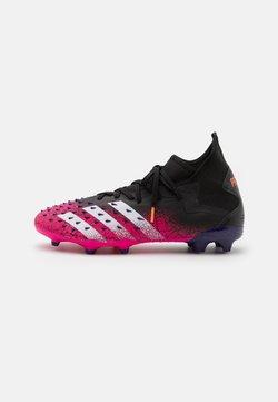 adidas Performance - PREDATOR FREAK .2 FG - Botas de fútbol con tacos - core black/footwear white/shock pink