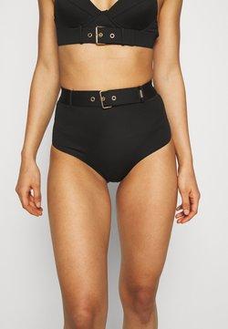 MOSCHINO SWIM - HIGH BRIEF - Bikini bottoms - black